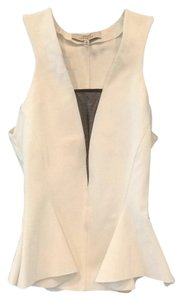 Robert Rodriguez Top White with black mesh detail