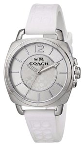Coach Coach Women's Boyfriend White Silicone Monogram Steel Watch 14502093
