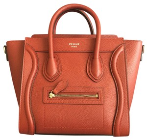 Céline Nano Luggage Nano Satchel in Red