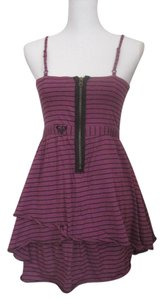 Roxy short dress Purple/Black Striped on Tradesy