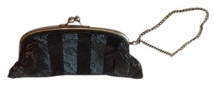 The Limited Beaded Wristlet Formal Black Clutch