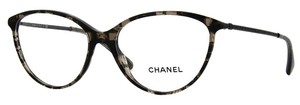 Chanel Chanel Swarovski Pave Cat Eye, Eye Glasses 3293B (Black Grid)