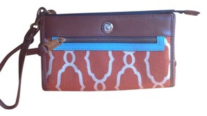 Spartina 449 Wristlet in Orange/Brown