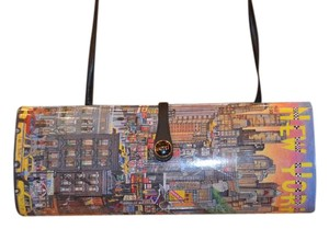 Anna Silvey Vintage New York Multicolor Clutch