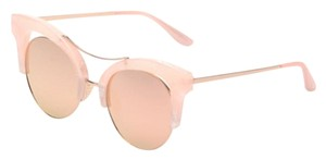 Elle Cross Elle Cross Credence(tm) In the Pink Collection - Sunglasses Semi Rimless Big Cat Eye Blush Pink Marble Frame Mirror Lens