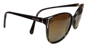 Prada Prada Havana Brown Soft Square Sunglasses Polarized Retro * Italy !