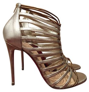 Christian Louboutin Milla Caged Stiletto Bootie gold Pumps