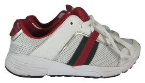 Gucci Leather White Sneakers Stripe Athletic
