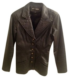 Betsey Johnson Leather Coat Motorcycle Vintage black Leather Jacket
