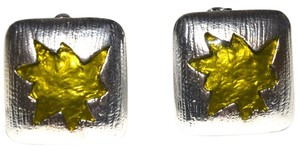 Other Western Starlet Clip On Enamel Painted Sterling Silver Plated Pewter Clip On Earrings
