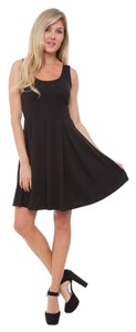 White Mark short dress Black Liverpool Fabric Fit N Flare Mini Scoop Neckline on Tradesy