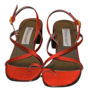 Etienne Aigner Satin Straps Red Sandals