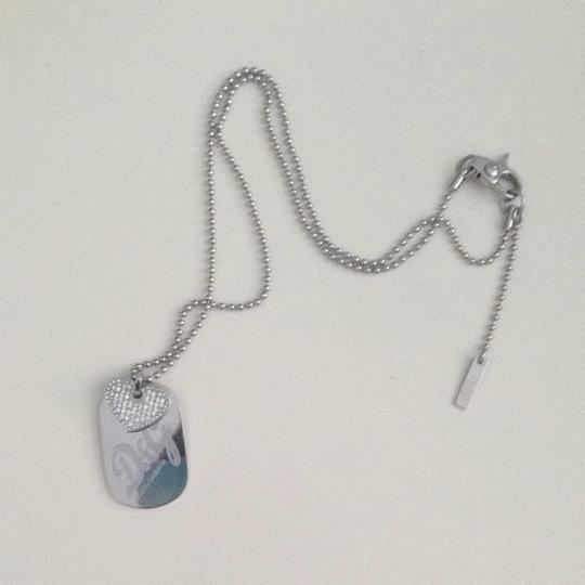 Dolce&Gabbana D&G Stainless steel Stone Heart Double Dog Tag Necklace Image 2