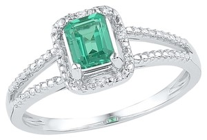 Other Ladies Luxury Designer 10k White Gold 1.51 Cttw Diamond & Emerald Cut Emerald Gemstone Fashion Ring By BrianGdesigns
