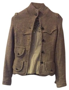 Free People Military Tribal Wool Tan Jacket
