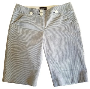 The Limited Bermuda Shorts Navy blue and white