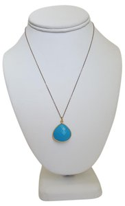 Other Blue Stone and Gold Necklace