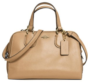 Coach Nolita Demi Blue 33735 Satchel in Nude beige light gold