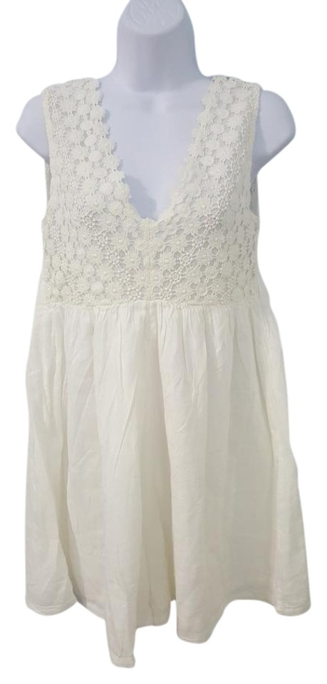 4183706d6a Calzedonia White Cobey Sleeveless Floral Lace Loose Size Us S Romper ...