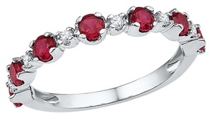 Other Ladies Luxury Designer 10k White Gold 1.21 Cttw Diamond & Ruby Gemstone Fashion Ring By BrianGdesigns