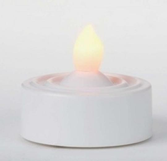 White Flameless Tealight Candles Ceremony Decoration
