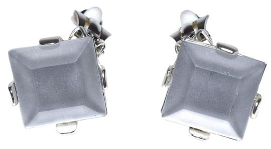 Preload https://img-static.tradesy.com/item/17806303/silver-black-silver-white-gold-blue-gold-amber-pewter-square-faceted-resin-clip-style-earrings-0-1-540-540.jpg