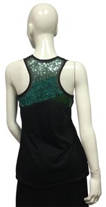 Urban Outfitters Top Black & Green Sequin