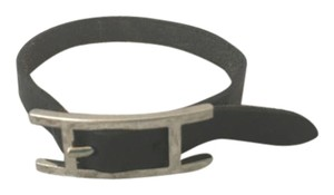 Hermès Authentic Hermes Black Leather Hapi Wrap Bracelet!!!
