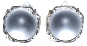Sterling Silver Plated-Pewter Aquatic Resin Clip On Earrings