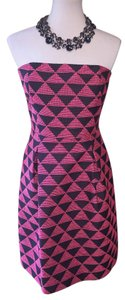 Trina Turk short dress $75 ** Free Shipping ** New W/ Tags Cessily Size 10 Pink And Black Strapless on Tradesy