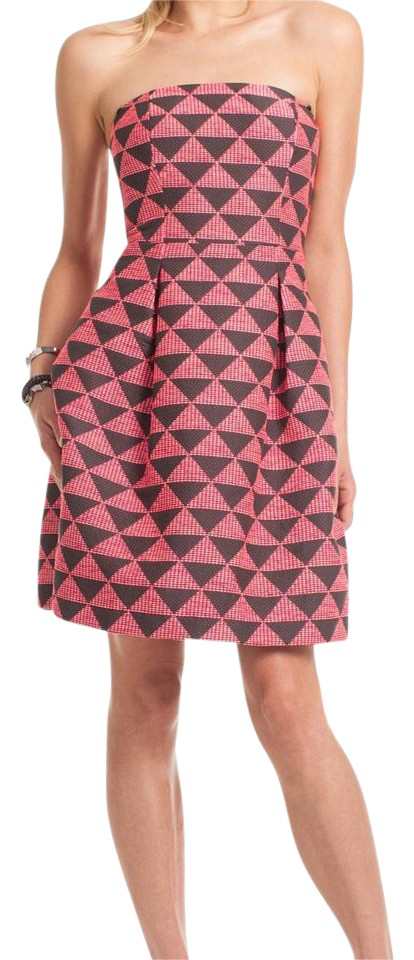 e11854b8549a Trina Turk ** Free Shipping ** Pink and Black Strapless Cessily Casual Dress