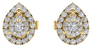 Elizabeth Jewelry 10Kt Yellow Gold 0.25 Ct Diamond Pear Shape Stud Earrings