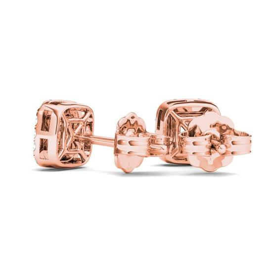 Elizabeth Jewelry 10Kt Rose Gold 0.25 Ct Diamond Pear Shape Stud Earrings
