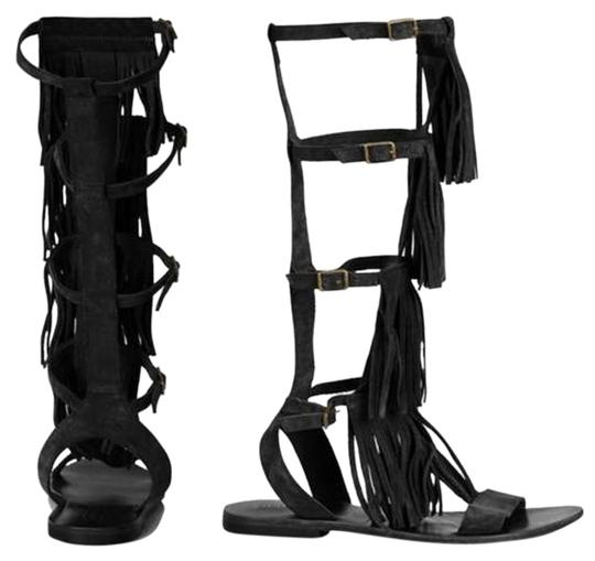 Preload https://img-static.tradesy.com/item/17807965/topshop-black-gladiator-fringe-sandals-size-us-55-regular-m-b-0-3-540-540.jpg