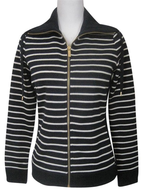 Lauren Ralph Lauren Funnel-neck Striped Full Zip Long Sleeve