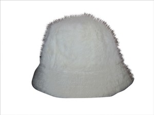 Other High quality high fashion Angora off White hat