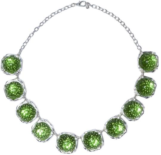Preload https://img-static.tradesy.com/item/17808196/silver-green-aquatic-bauble-resin-sterling-plated-pewter-necklace-0-1-540-540.jpg