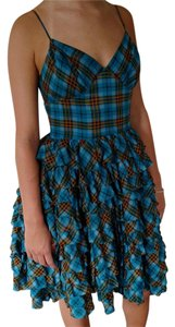 Betsey Johnson Ruffles Plaid Dress