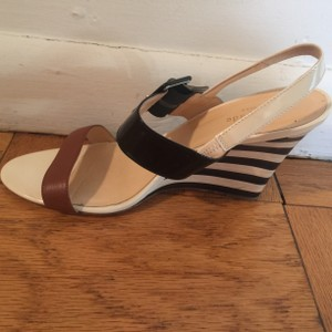 Kate Spade Wedge Black and white striped Wedges