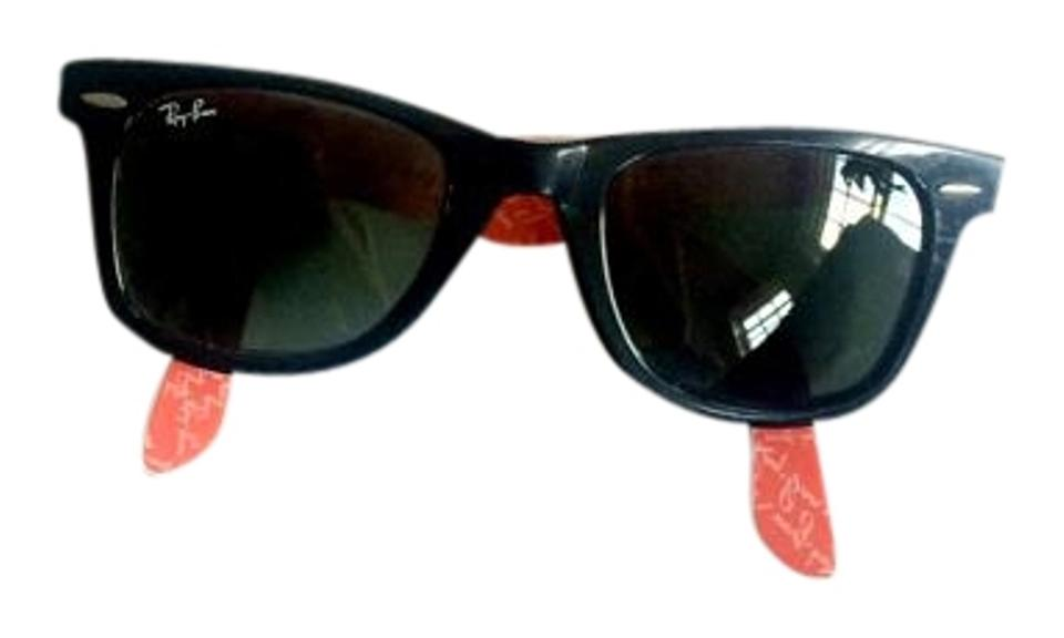 7fa384da9d Ray-Ban Black Red Limited Edition Wayfarer Sunglasses - Tradesy