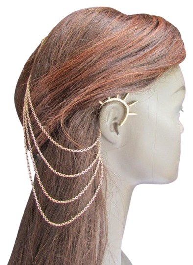 Preload https://img-static.tradesy.com/item/17809027/gold-women-chains-spikes-ear-cuff-hair-pin-headband-claw-earrings-0-1-540-540.jpg