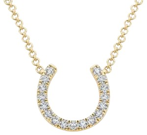 Elizabeth Jewelry 14Kt Yellow Gold Diamond Horseshoe Pendant