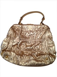 Prada Tote in Metallic gold