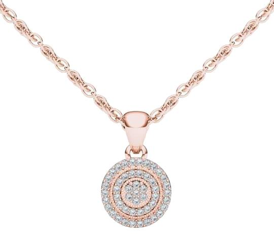 Preload https://img-static.tradesy.com/item/17809741/10kt-rose-gold-diamond-halo-pendant-necklace-0-1-540-540.jpg
