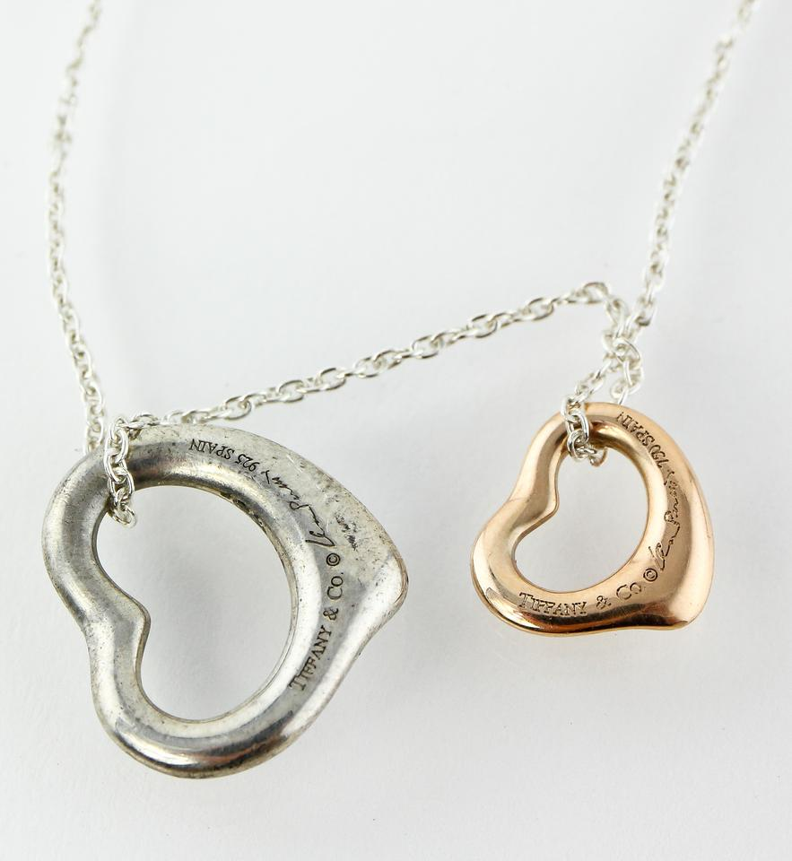 d4ba2c162 Sterling Silver/18k Rose Gold Elsa Peretti Two Hearts Necklace - Tradesy