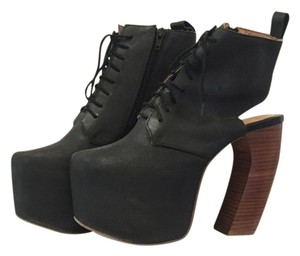 Jeffrey Campbell Lana Black Leather Boots