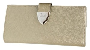 Gucci New Gucci Light Gold Signoria Leather Clutch Continental Wallet 231837 1000