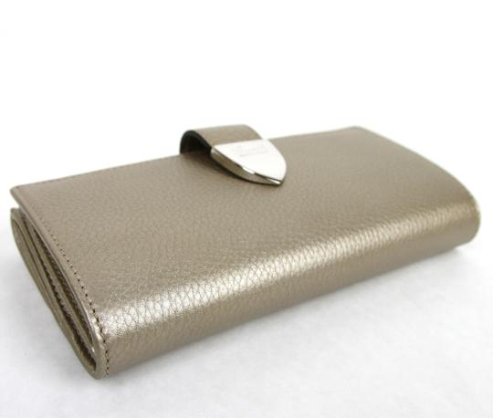 Gucci Light Gold Signoria Leather Clutch Continental Wallet 231837 9504