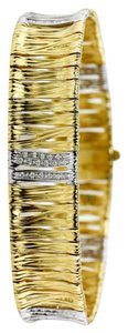 Roberto Coin Roberto Coin Diamond Two Tone 18k Yellow Gold Bracelet