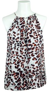 Parker Animal Print Silk Size L Night Out Top